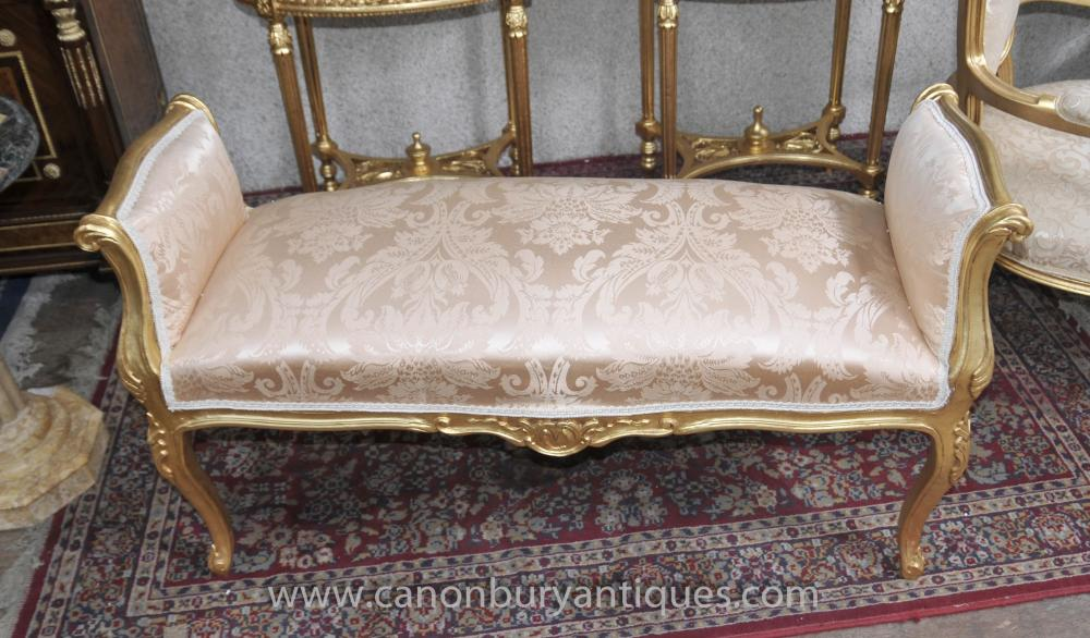 Louis XV Gilt Hocker Sitz Französisch Möbel Interiors