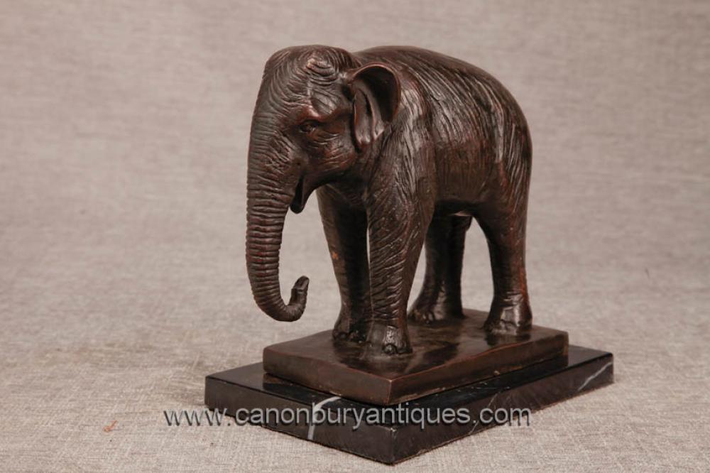Bronze Casting Indischer Elefant Statue Nelly Dumbo Elephants Stammeskunst