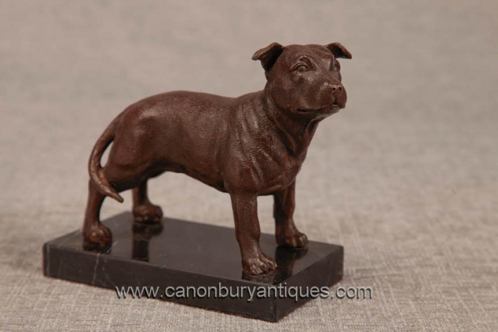 Bronze Englisch Pitbull Hund Statue Casting