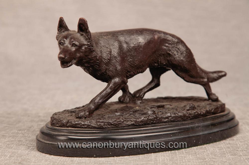 Französisch Bronze Casting Fox Statue Cunning Sly Foxes