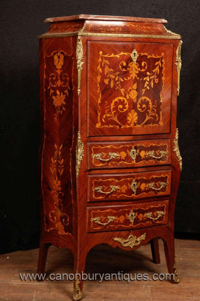 Französisch Reich Secretaire Chest Desk Intarsien Möbel