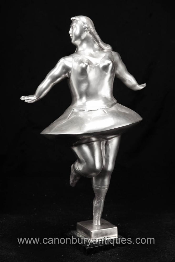 Silber Bronze Ballet Dancer-Statue-Figürchen Botero