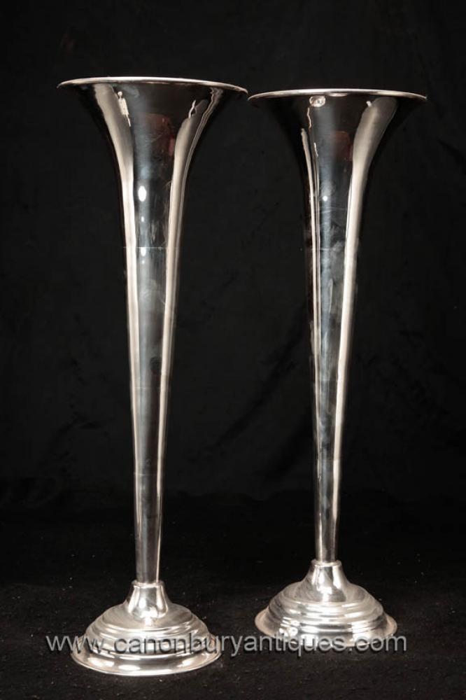 Victorian Sheffield silberne Platten Vasen Englisch Vase