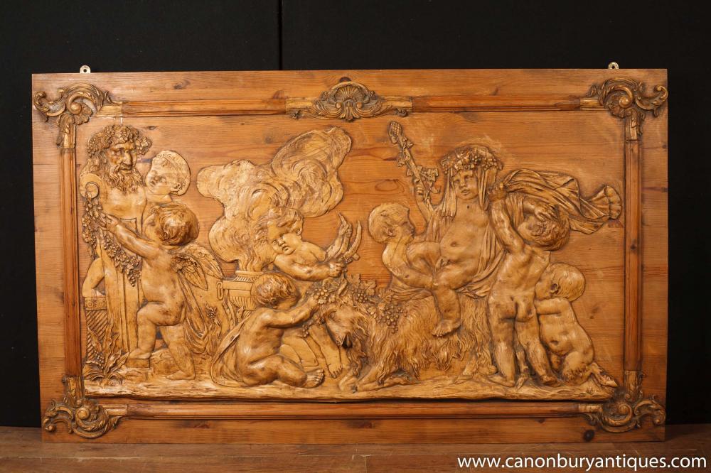 Hand geschnitzt FLEMISH PINE CHERUB zahnbelag FRIEZE ARCHITECTURAL ANTIQUES