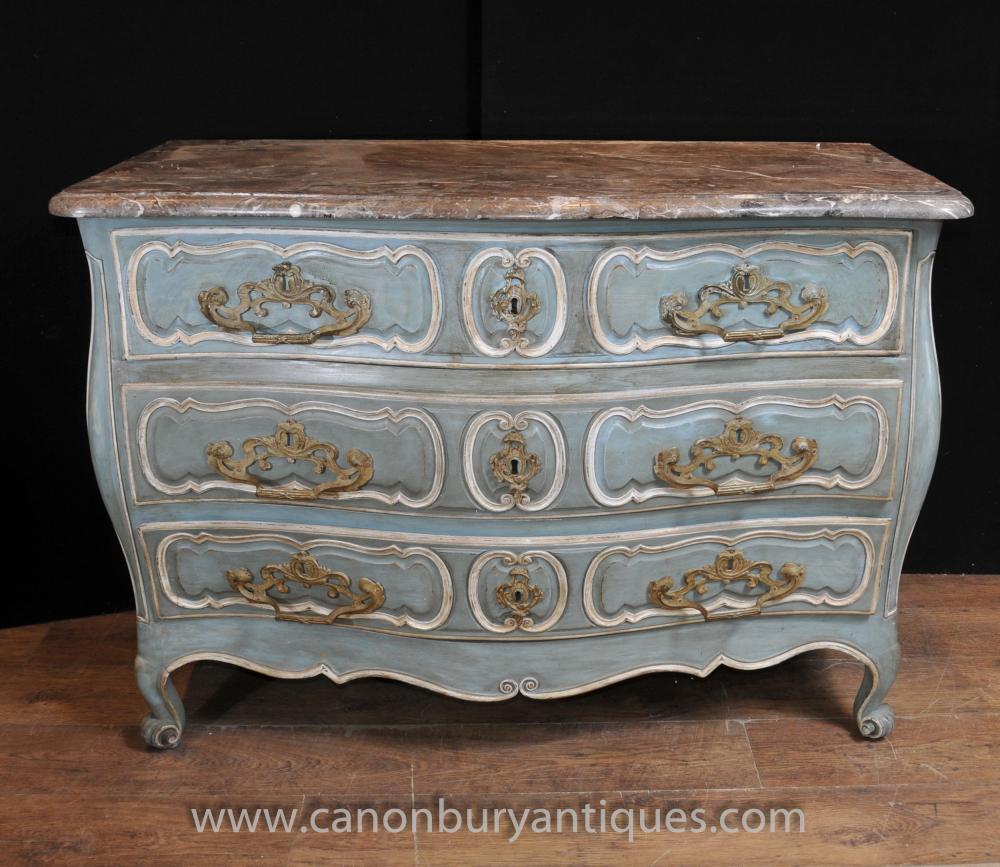 18. Jahrhundert Französisch Provincial Bombe Kommode Kommoden Antiquitäten-Möbel