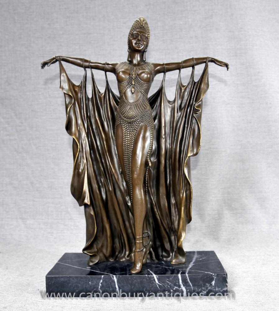 Art Deco Bronze Semiramis Dancer von Chiparus Französisch Figurine