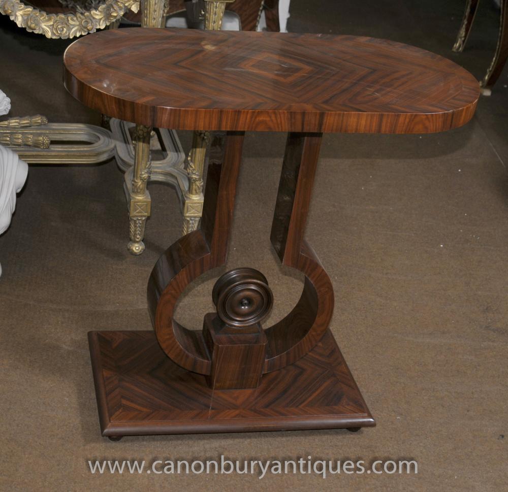 Art Deco-Konsole Tabelle Rosewood Halle Tische Möbel