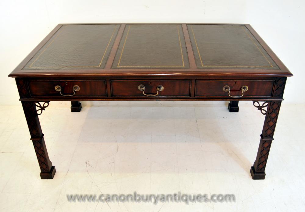 Chinese Chippendale Schreibtisch Schreibtisch Mahagoni-Möbel