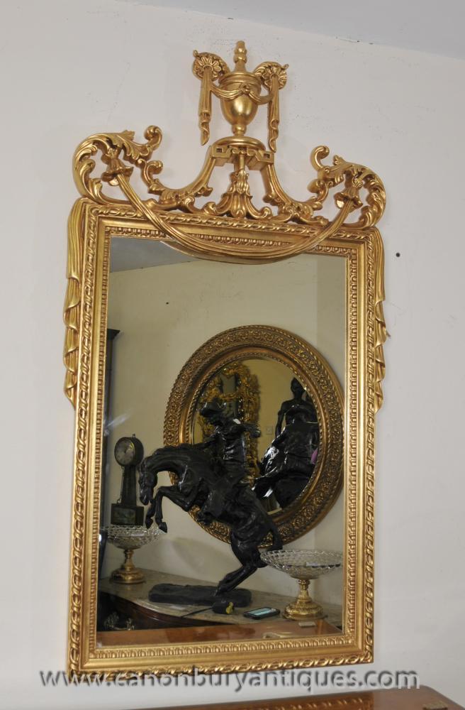 Englisch Regency Adams Klassische Pier Spiegelglas Spiegel