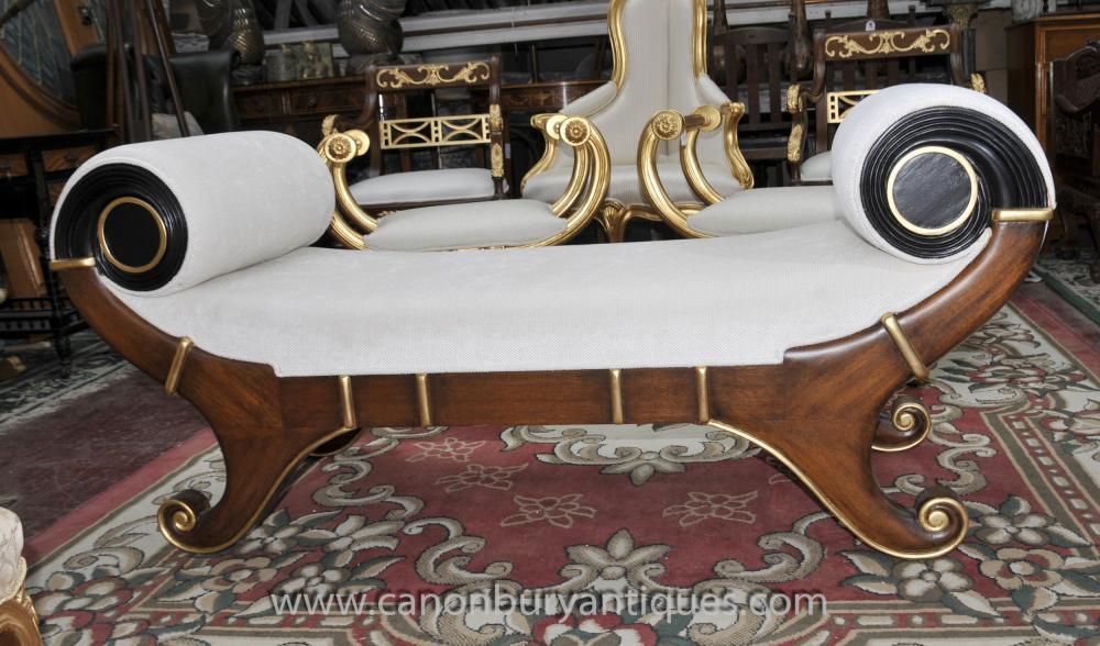 Französisch Reich Hocker Chaiselongue Sitz Day Bed
