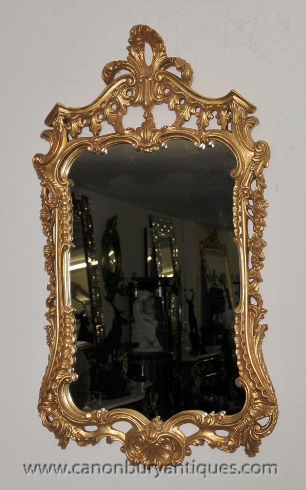 Französisch Rokoko Gilt Pier Spiegelglas Spiegel