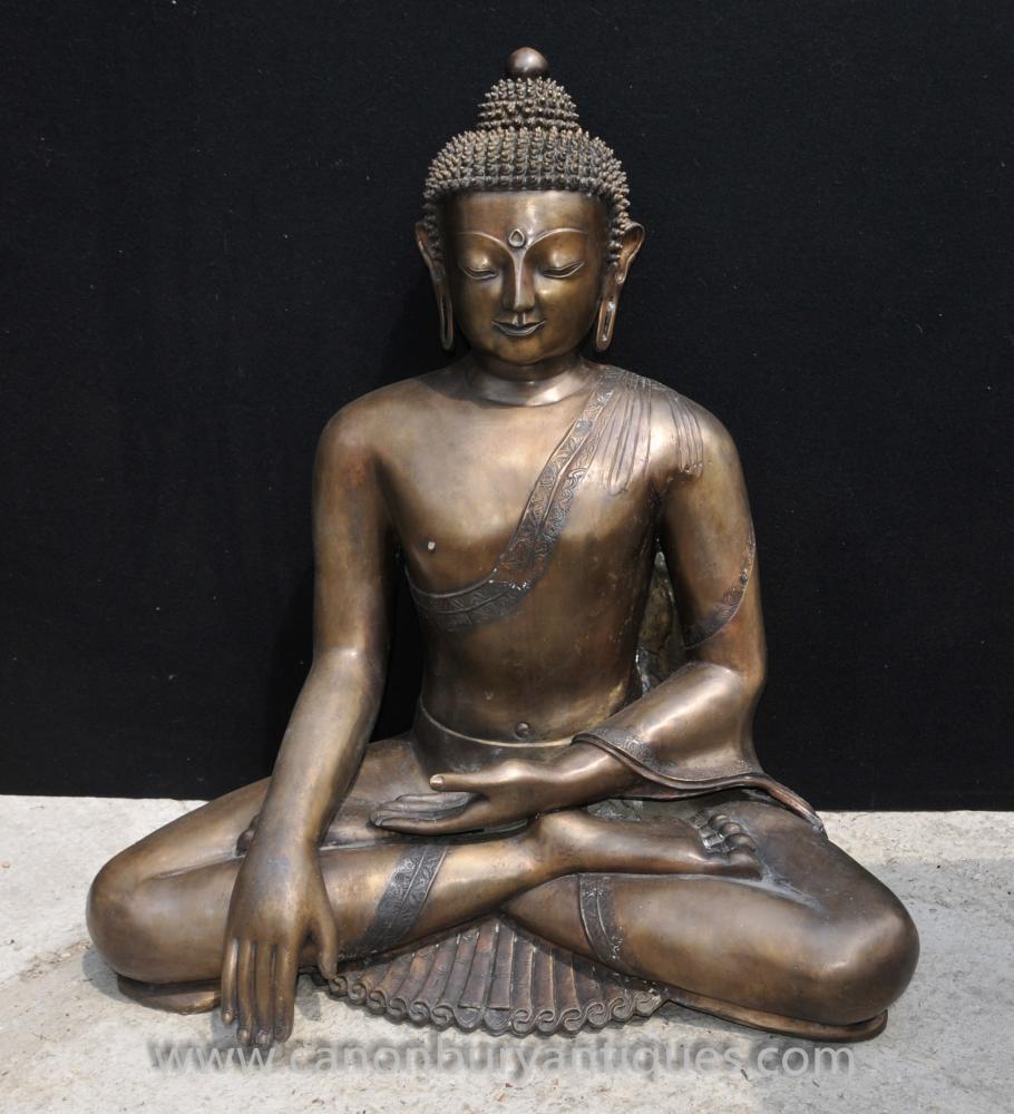 Große Bronze nepalesischen Buddha-Statue der buddhistischen Meditation Dhyanasana