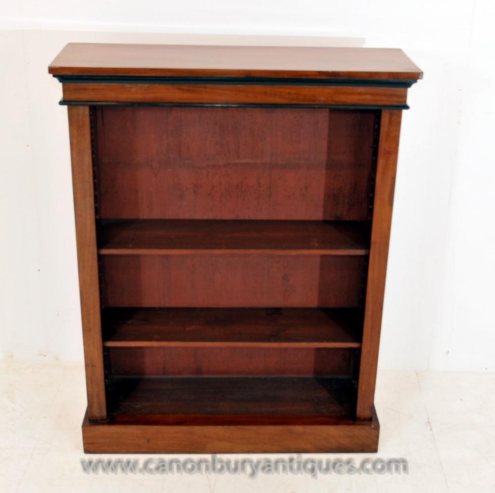 Antiker Biedermeier vorne offen Bücherregal Bücherregal öffnen