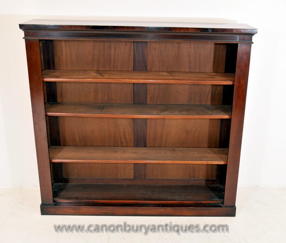 Antique Regency vorne offen Bücherregal Bücherregal öffnen