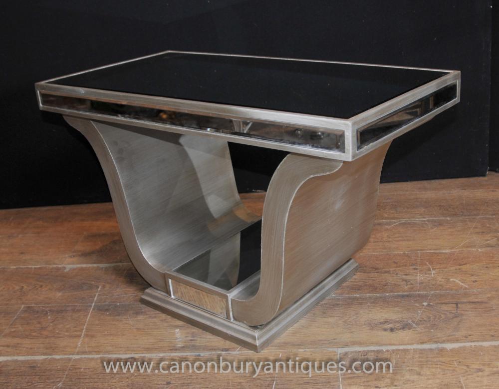 Art Deco Gespiegelte Beistelltisch Couchtische Möbel