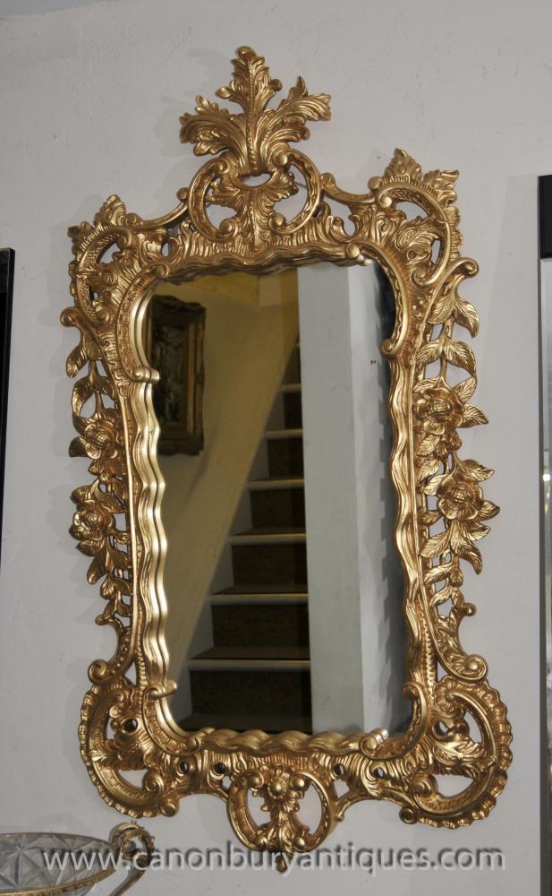 Big Französisch Louis XVI Gilt Rococo Pier Spiegel