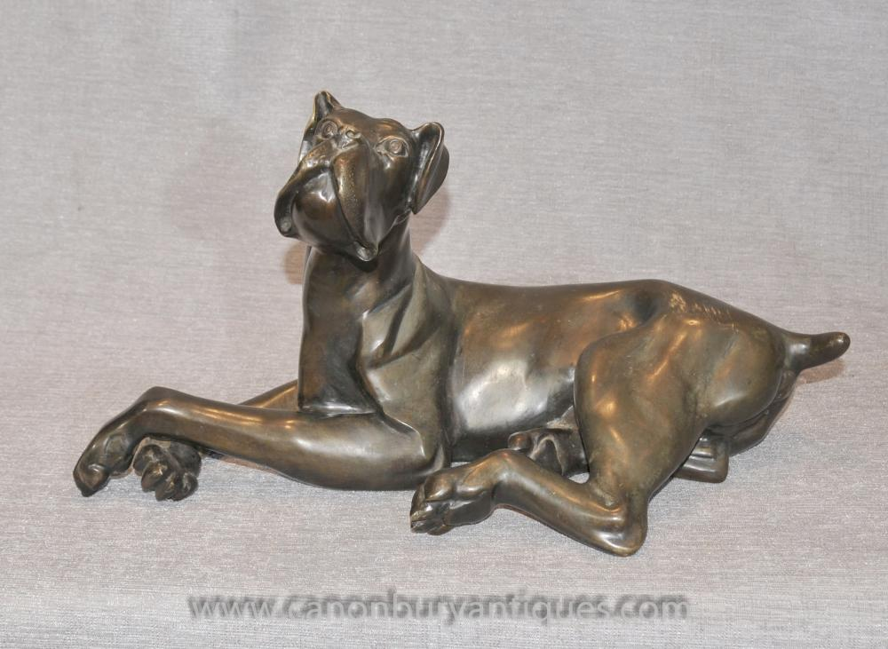 Bronze Dogge Statue Tiere Castings Hunde