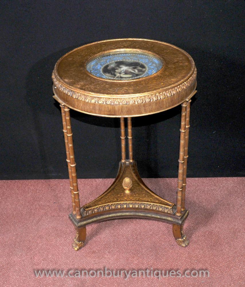 Einzel Sevres Französisch Beistelltisch Gilt Legs Louis XVI