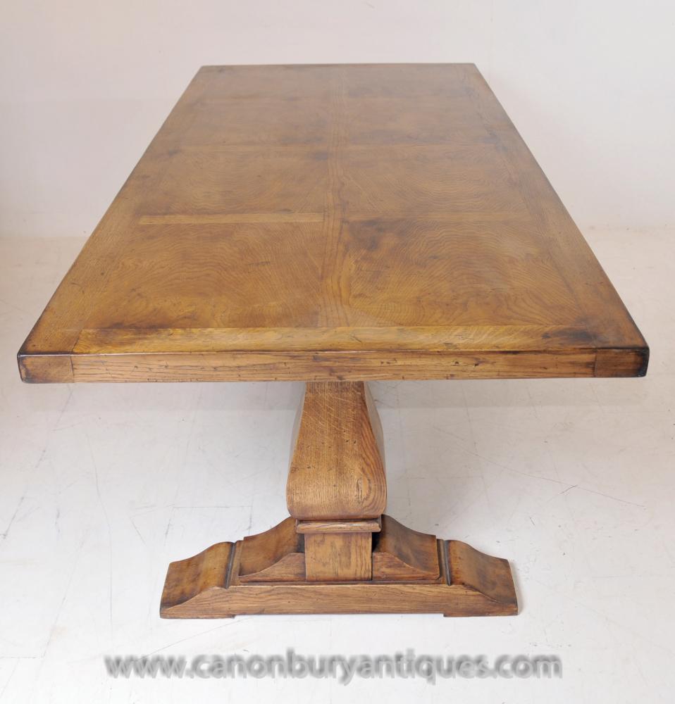 Englisch Bauern Eiche Refektorium Tabelle Trestle Tabellen