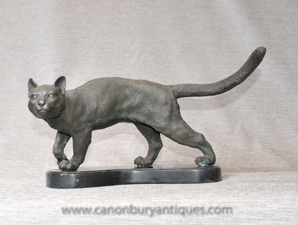 Englisch Bronze Tabby-Katzen-Statue Casting Katzen Kitten