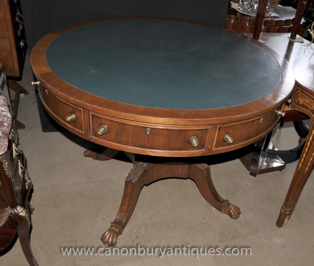 Englisch viktorianischen Drum Center Tisch Tabellen