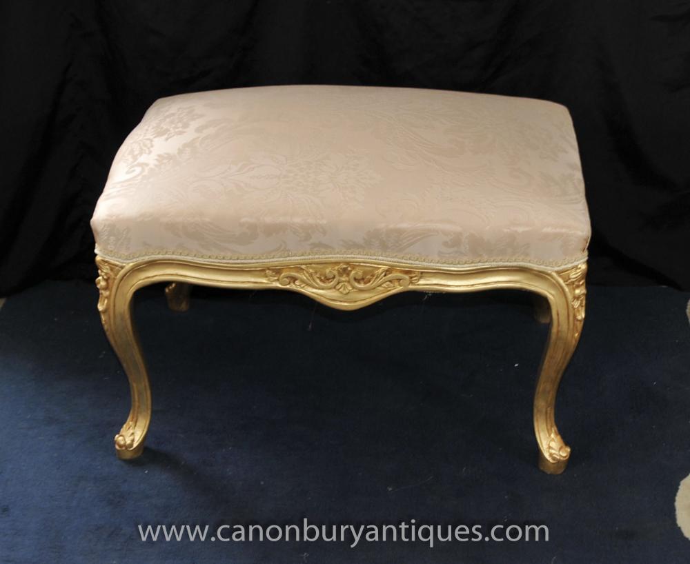 Französisch Louis XV Gilt Sitzhocker Fussständer