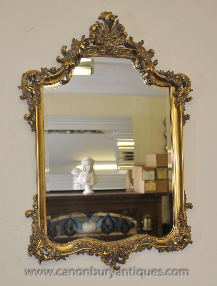 Französisch Louis XVI Gilt Pier Spiegelglas Spiegel
