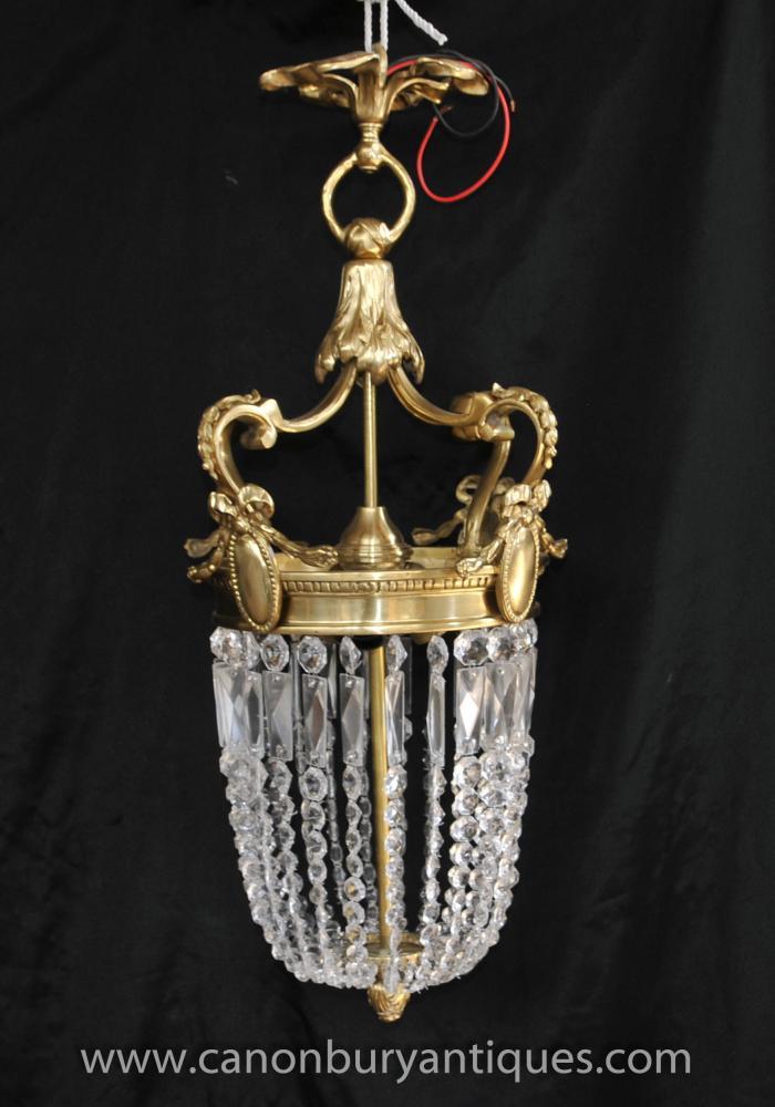 Französisch Reich Ormolu Leuchter-Licht Laterne Lampe