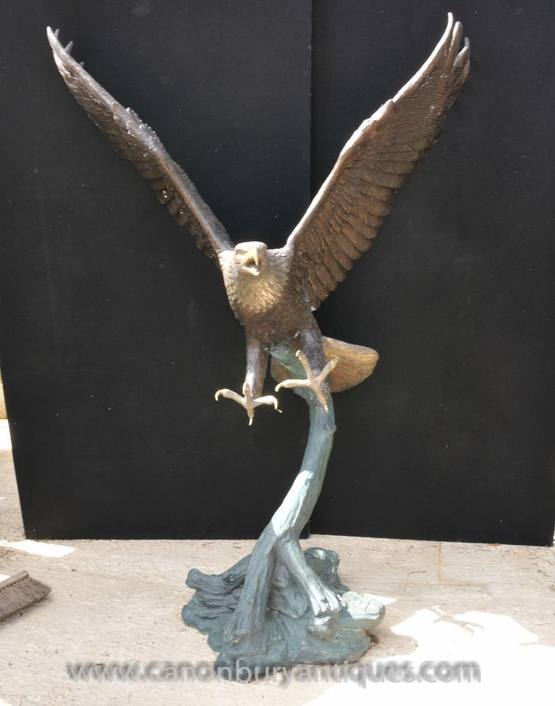 Große Bronze amerikanische Golden Eagle Statue Vögel Eagles 6 Ft