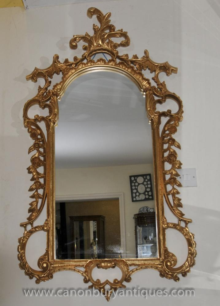Große George II Gilt Pier Spiegelglas Rococo