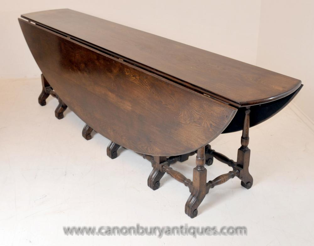Large Victorian Oak Wakes Oval Table Ausweitung Refektorium