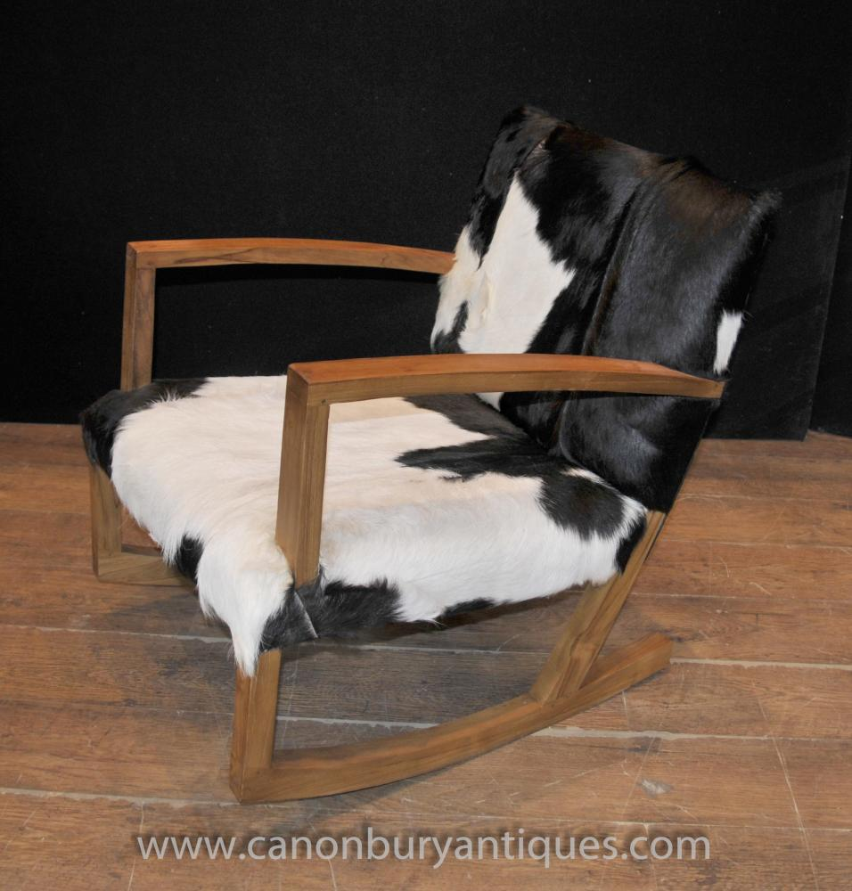 Modernist Funky Schaukelstuhl-Tierdruck-Sessel