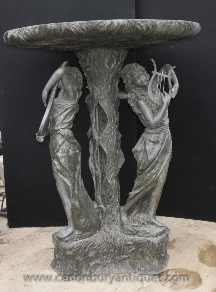 XL Französisch Bronze Maiden Fountain Garden Water Feature