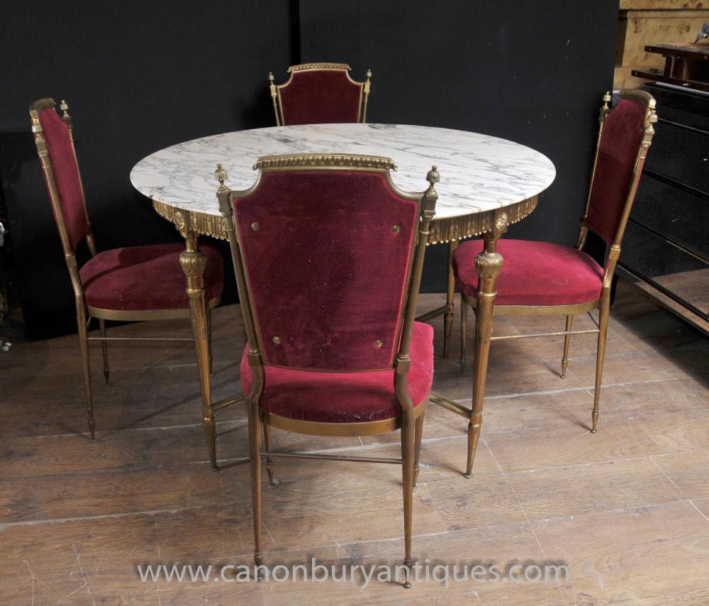 ranzösisch Reich Dining Set Tisch und Stühlen Ormolu