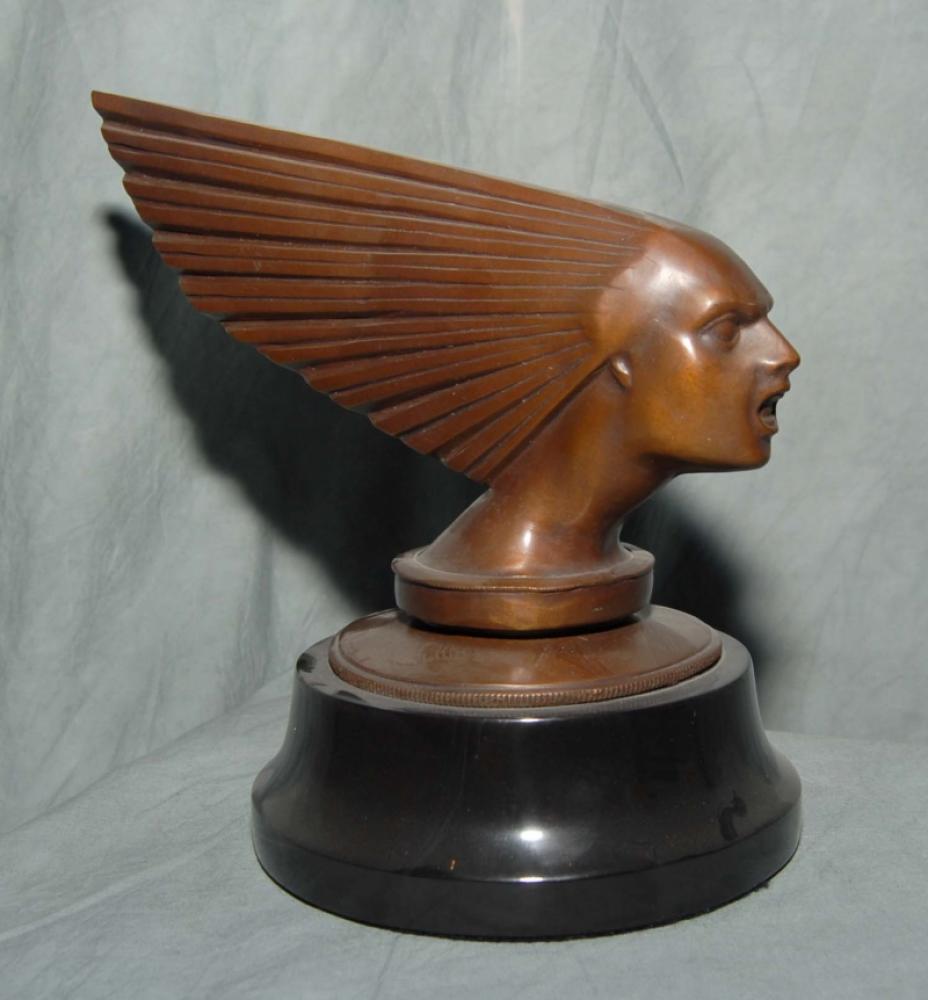Art Deco Bronze Victoire Bust Männlicher Kopf