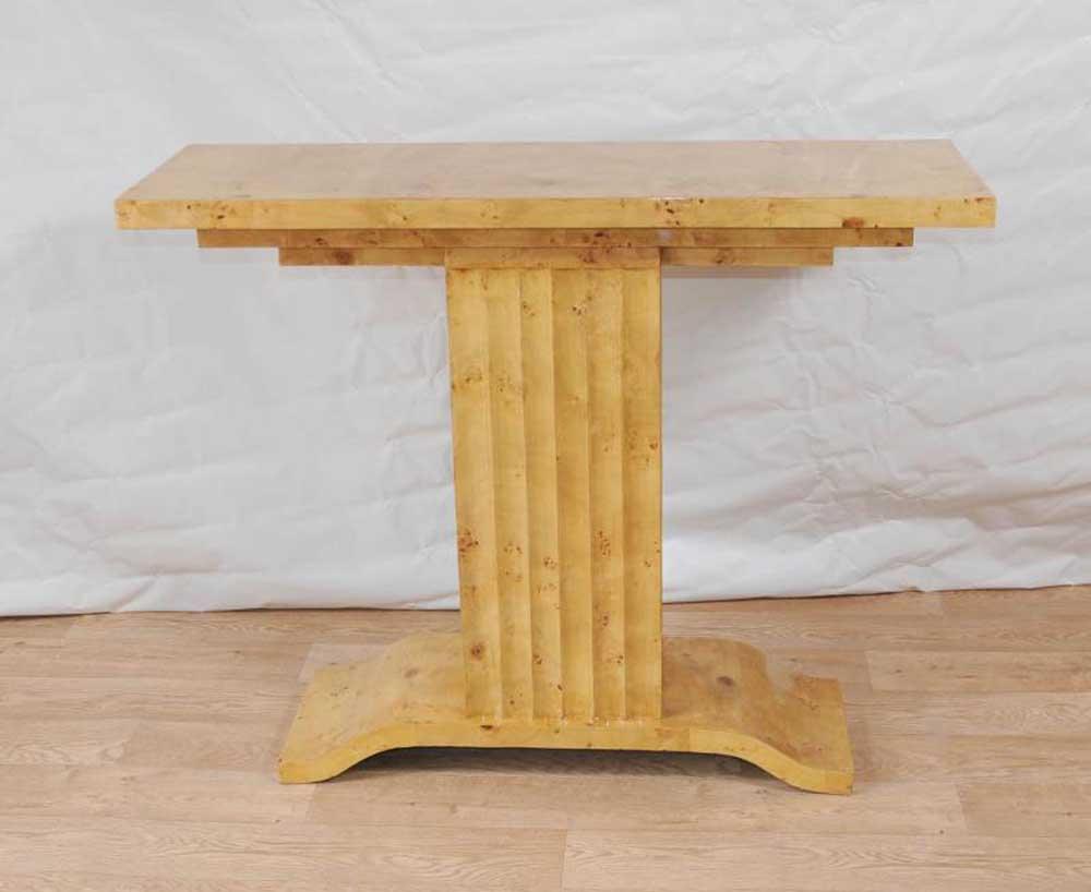 Art Deco Tisch 1920er Console Tables Blonde Walnuss Vintage-Möbel
