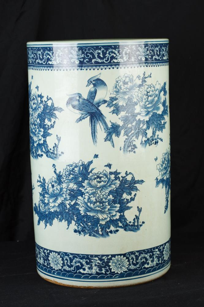 Blau i Blanc Porcellana paraigüer Nanking urna gerro