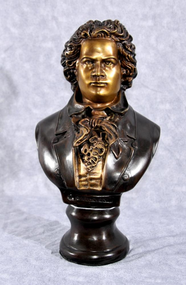 Bronze Büste Beethoven Romantisch German Music Composer Statue