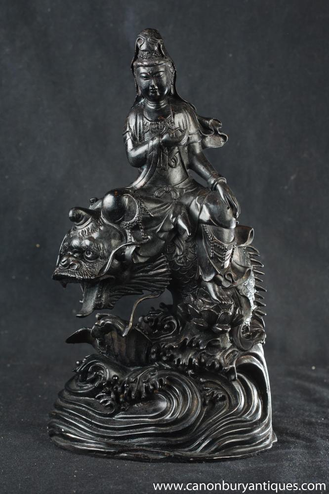Bronze Buddha-Statue Drachen Seeschlange taiwanesische