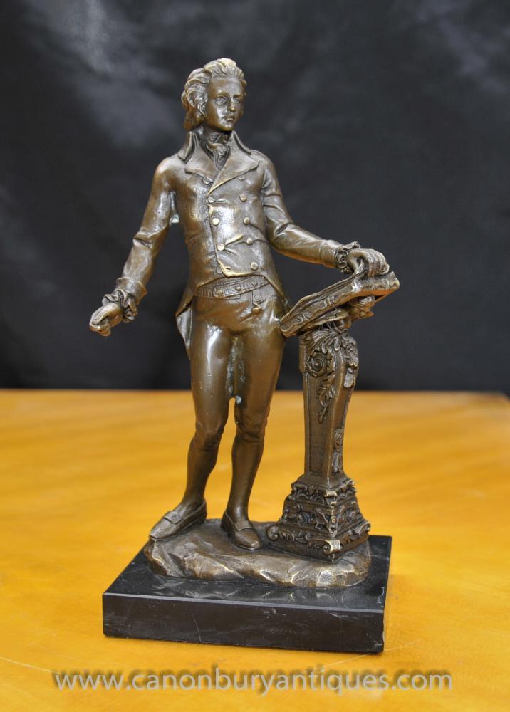 Bronze Statue Beethoven Klassik Deutsche Musik Komponist Figurine