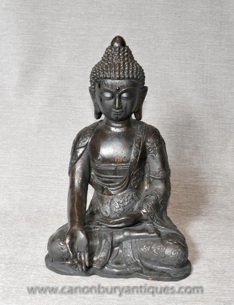 Bronze nepalesischen Buddha-Statue Dhyanasana Meditation Lotus-Haltungs-buddhistischen