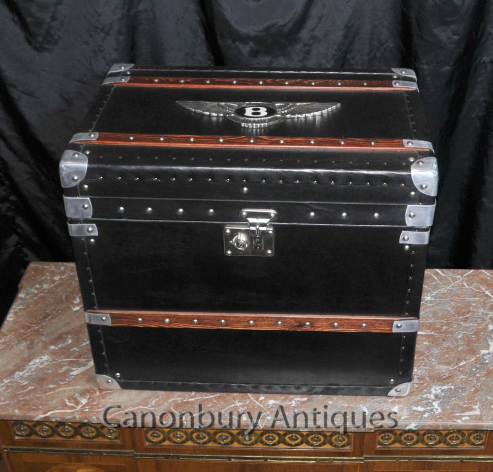Englisch Bentley Auto-Gepäck-Kasten Dampfer-Stamm Beistelltisch Box