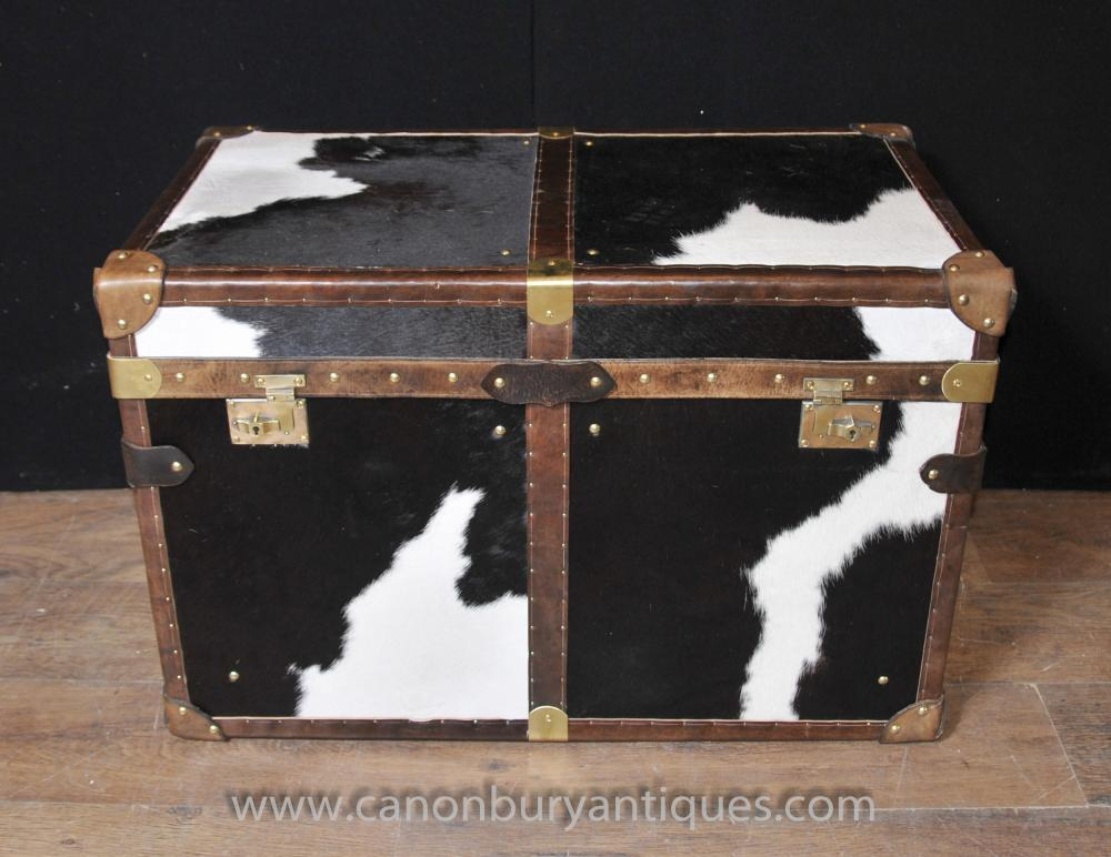 Englisch Dampfer-Stamm Gepäck Box Chest-Kasten Kaffee Beistelltisch Tierdruck-