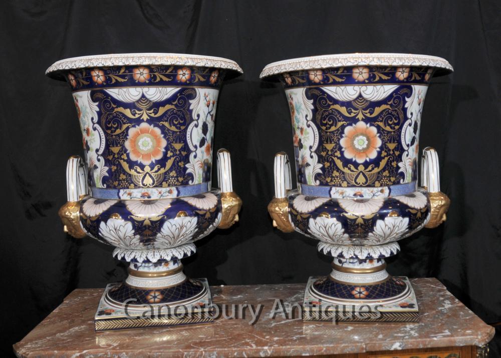 Englisch Derby Porzellan Campana Urnen Pflanzvasen Blumen