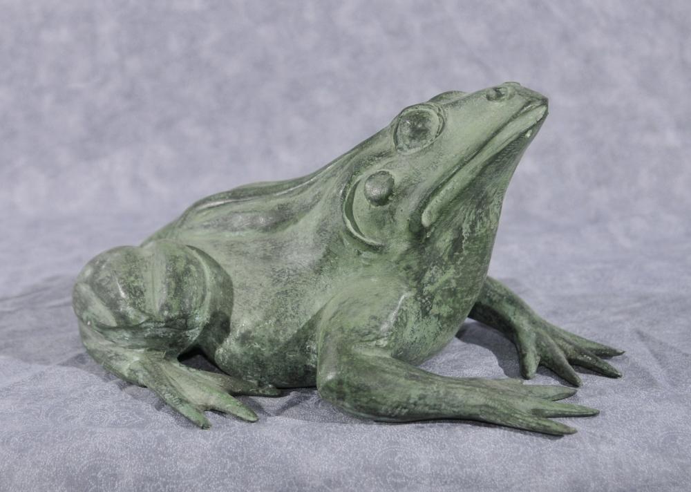 Französisch Bronze Frog Fountain Toad Garden Skulptur Statue