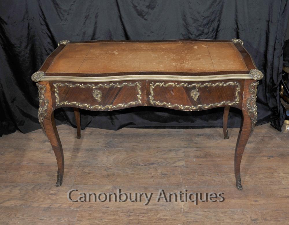 Französisch Kaiserreich Antiquität Schreibtisch Schreibtisch Bureau Plat 1860
