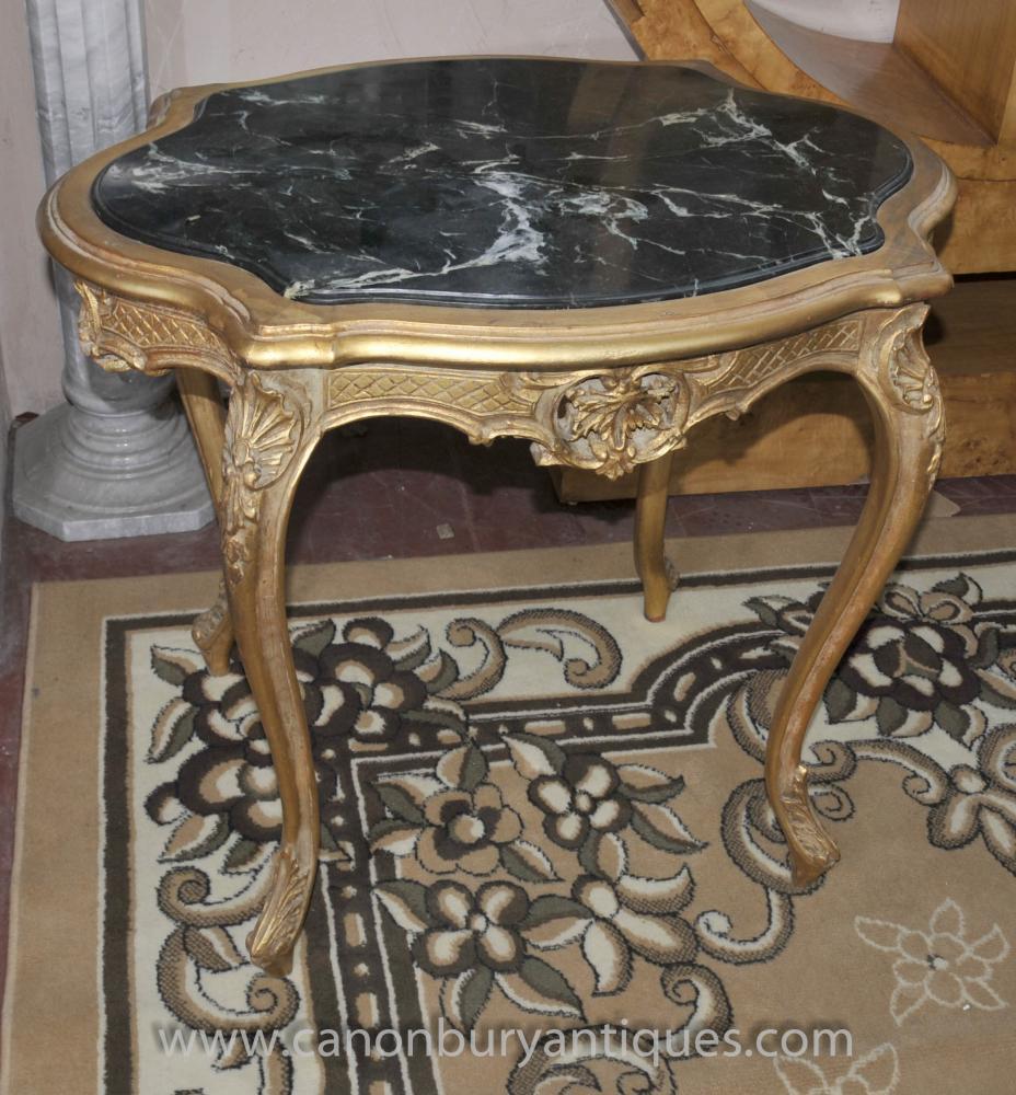 Französisch Louis XVI Gilt Beistelltisch Cabriole Legs Tabellen