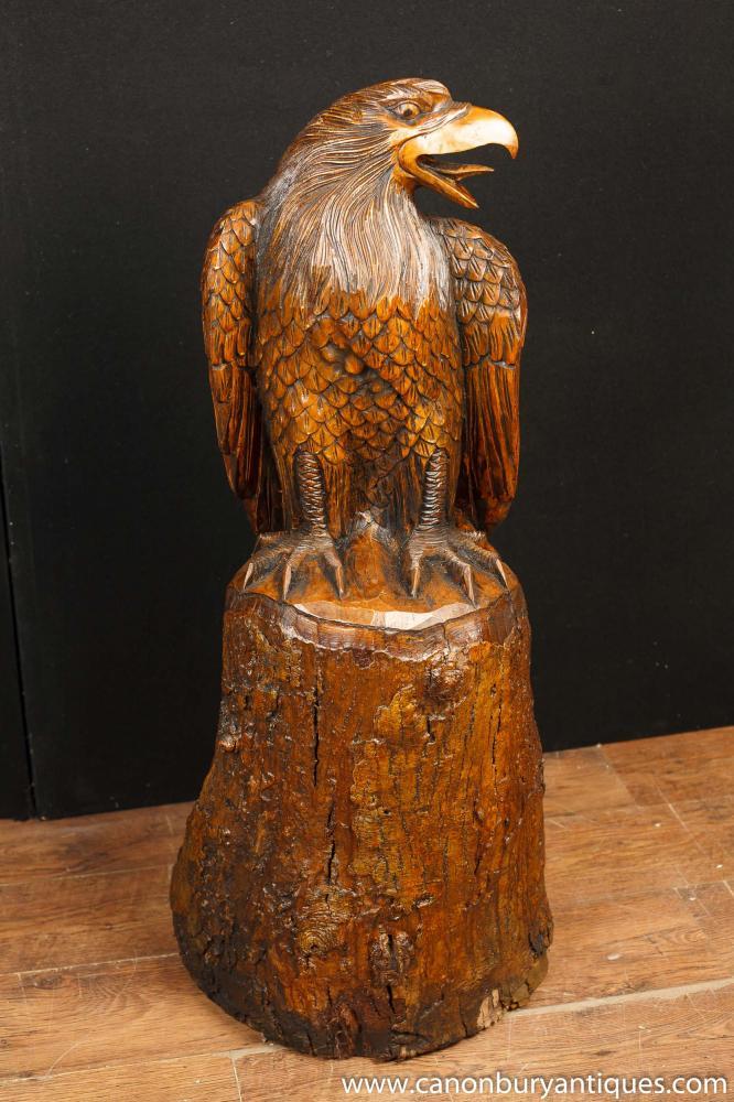 Große Hand geschnitzte American Bald Eagle Statue Birds Prey