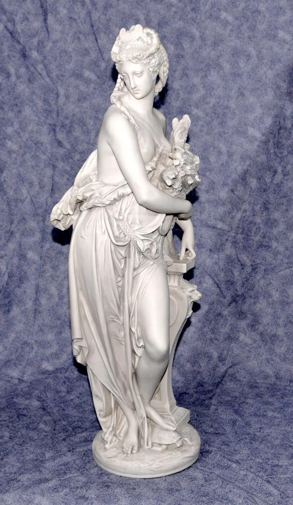 Klassische italienische Steinfigürchen Dilettanti Muse von Carrier