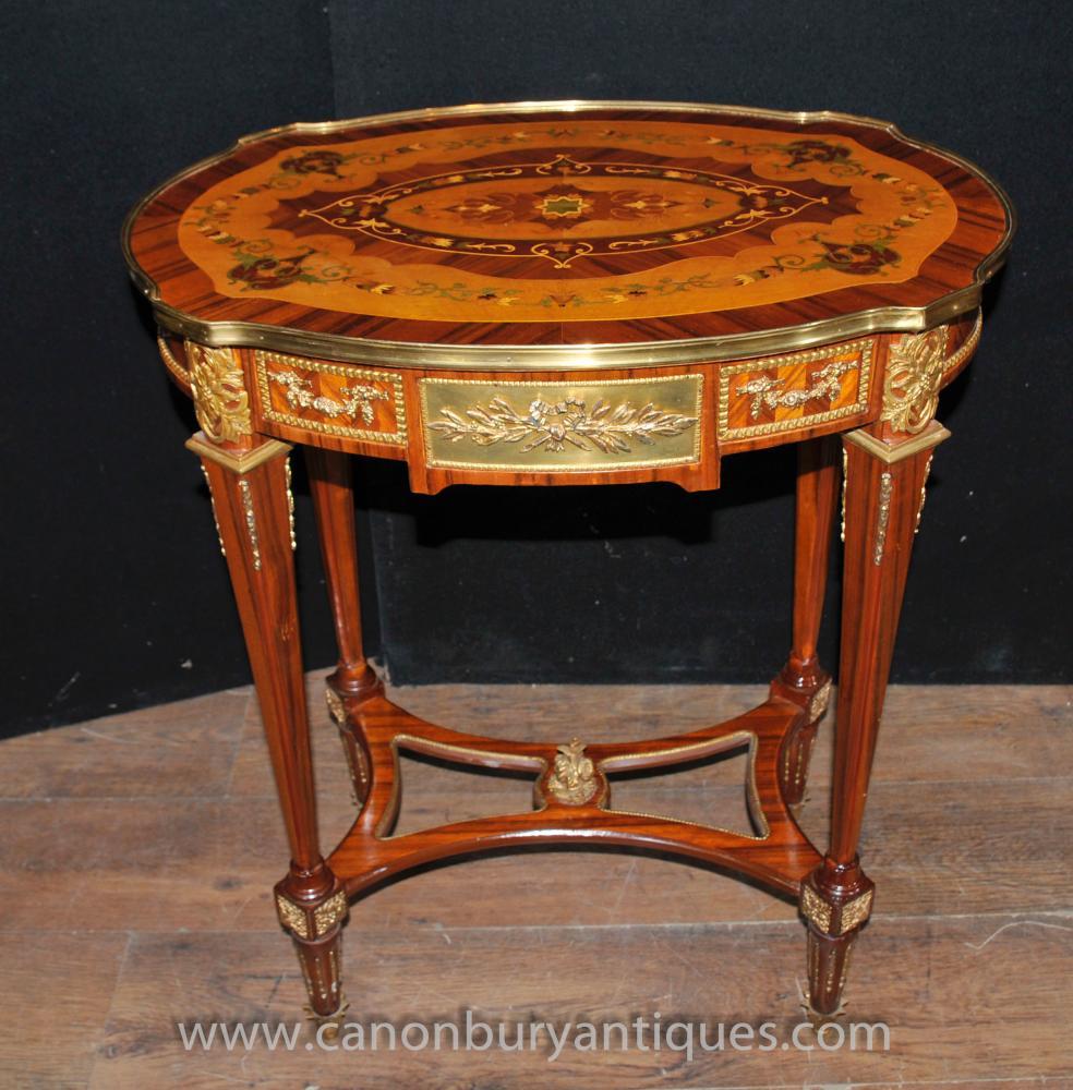 Louis XVI Beistelltisch Intarsien Cocktail Tables